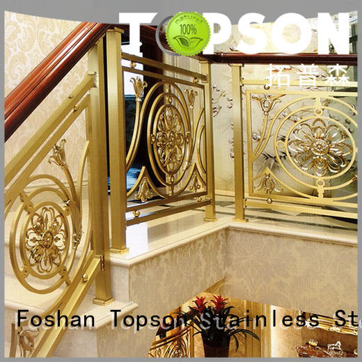 Topson reliable stainless balcony railings for business for hotel