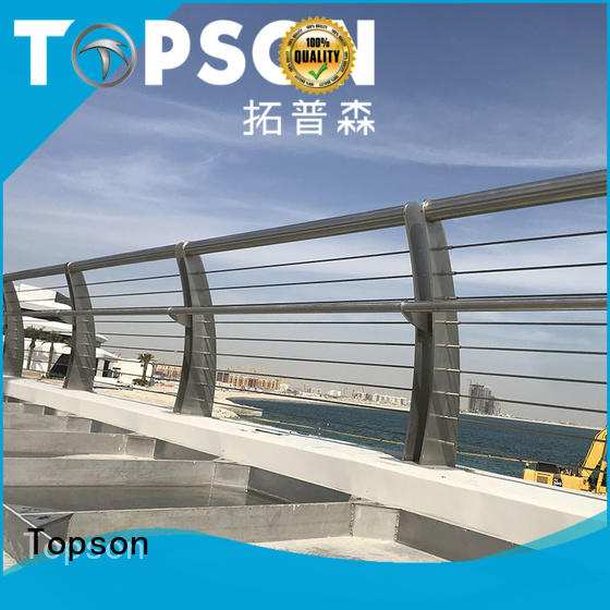 Topson handrail stainless cable railing factory for office