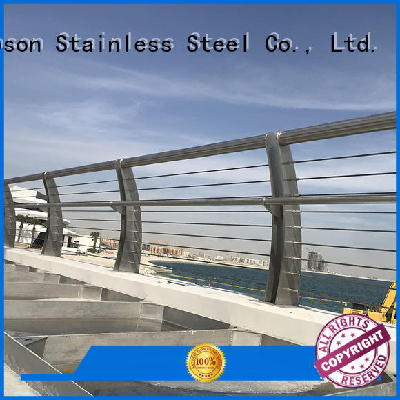 high-quality stainless steel guardrail systems handrail for building