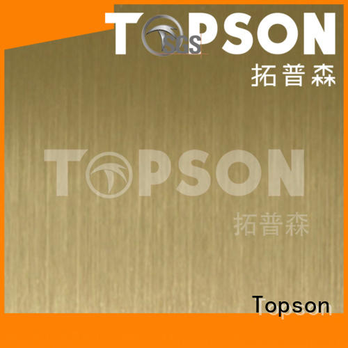 Topson stable stainless steel plate suppliers factory for handrail