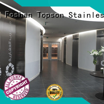 Topson handles metal work supplies for business for building facades