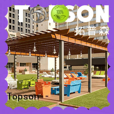 Topson fixed aluminum frame pergola gazebo factory for hotel