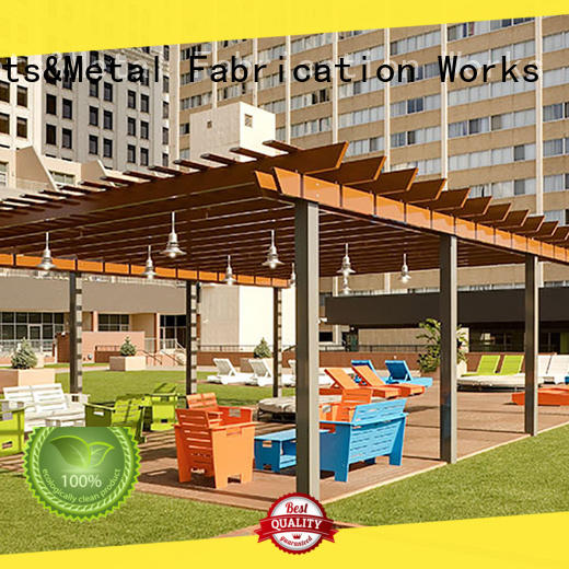Latest aluminum pergola prices coated for business for park