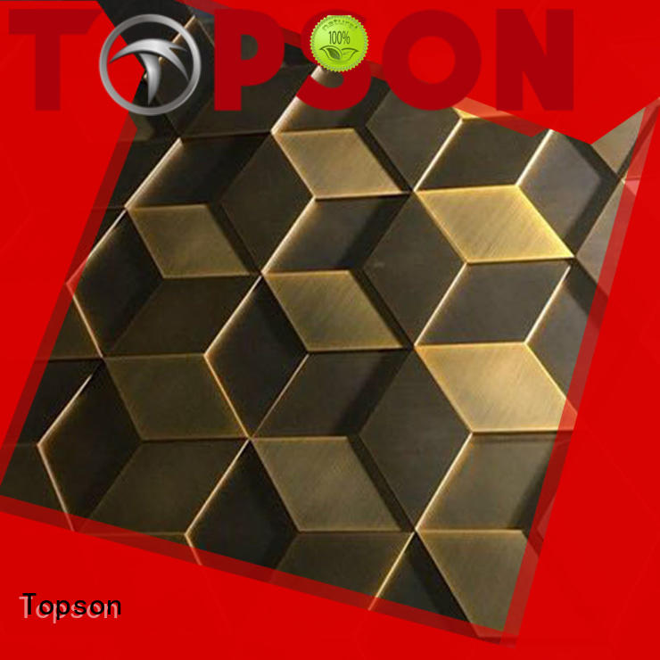 Topson Top stainless cladding Supply for shopping mall
