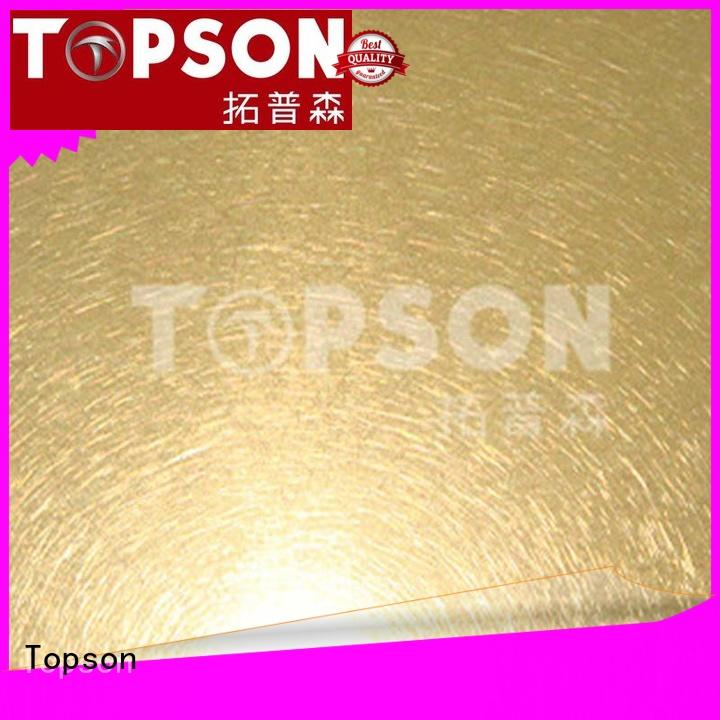 Topson embossed brushed stainless steel sheet Supply for handrail