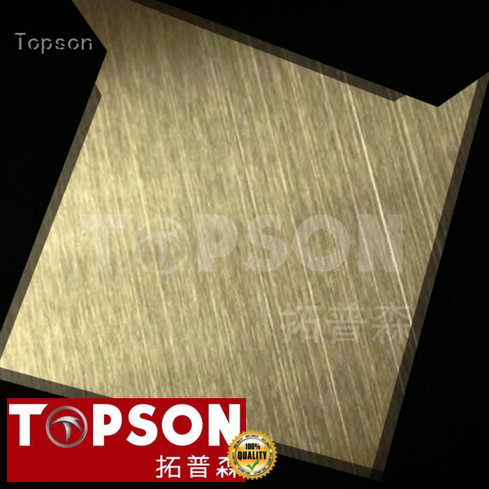 hairline decorative stainless steel sheet sheetdecorative for floor Topson