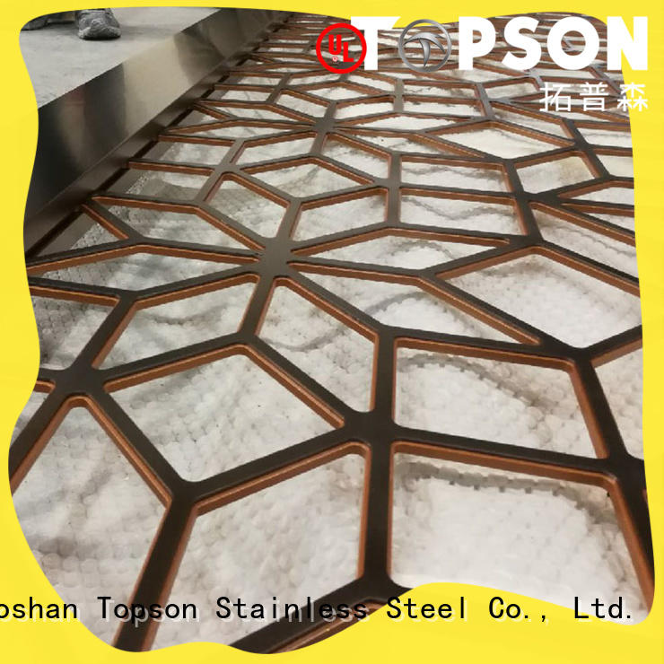 Topson Custom aluminium decorative screens for building faced