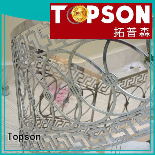 Topson steel stainless steel outdoor handrails manufacturers for hotel