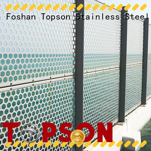 Topson special design metal screen overseas market for exterior decoration