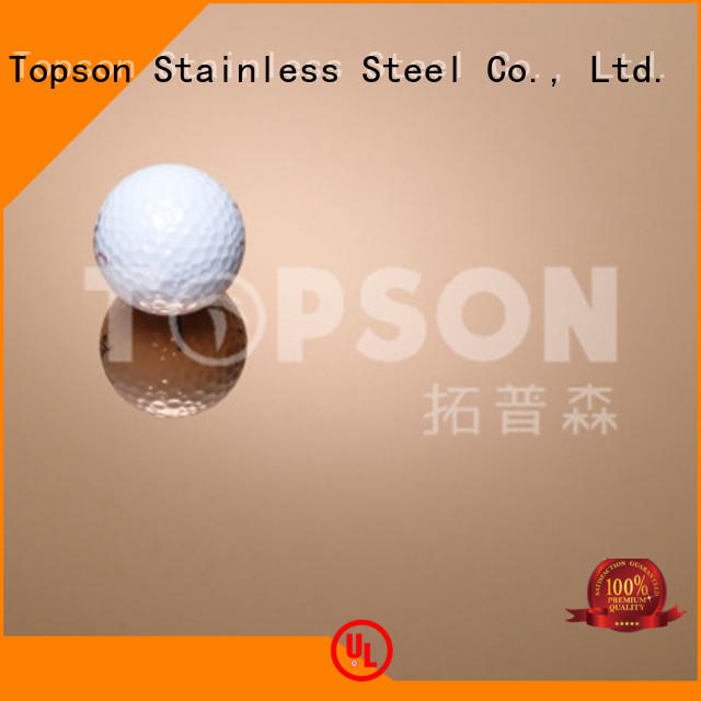Topson gorgeous mirror stainless steel sheet for business for elevator for escalator decoration