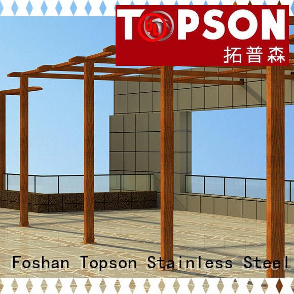 Topson fixed aluminium pergola frame manufacturers for backyard