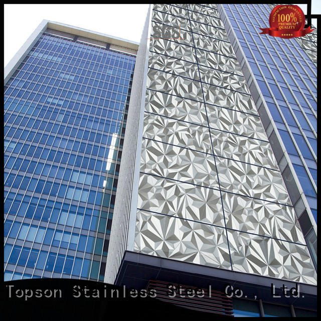 Topson reliable wall cladding designs manufacturers for shopping mall