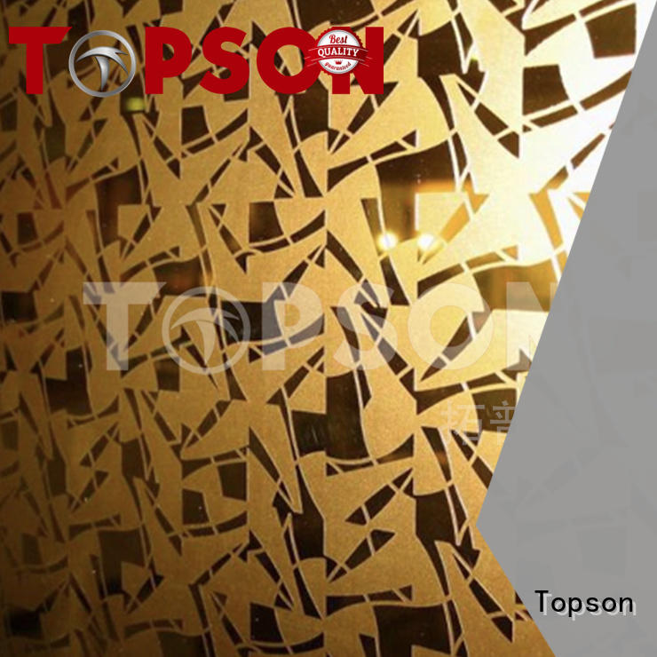 Topson High-quality stainless steel sheet metal suppliers Suppliers for furniture