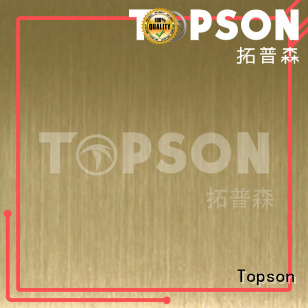 antifingerprint stainless steel sheet metal cost security for interior wall decoration Topson