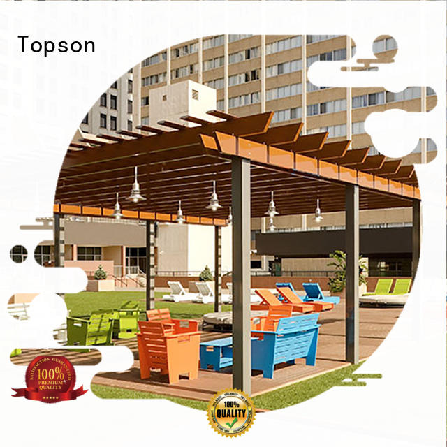 Topson excellent aluminium pergola calibration for resort