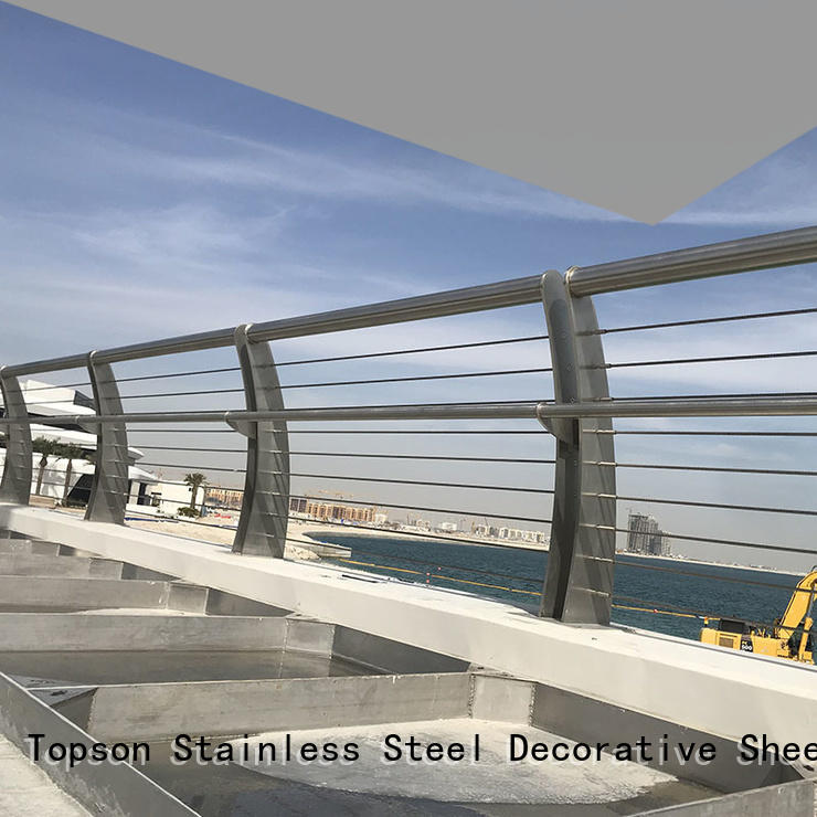 Topson railing stainless steel cable handrail for tower