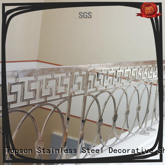 Topson stable stainless steel guardrail systems Suppliers for mall