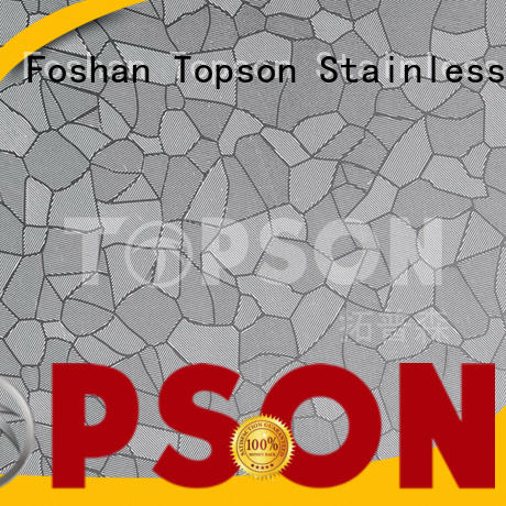 Topson finish bead blasted stainless steel for floor