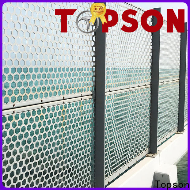 Topson stainless outdoor metal screen panels for building faced
