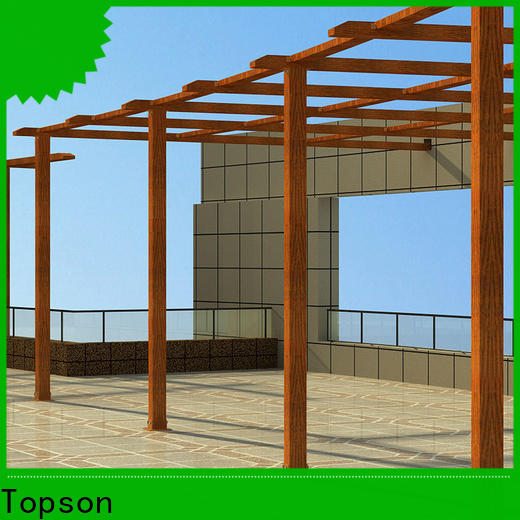 Topson pergola curved metal pergola factory for resort