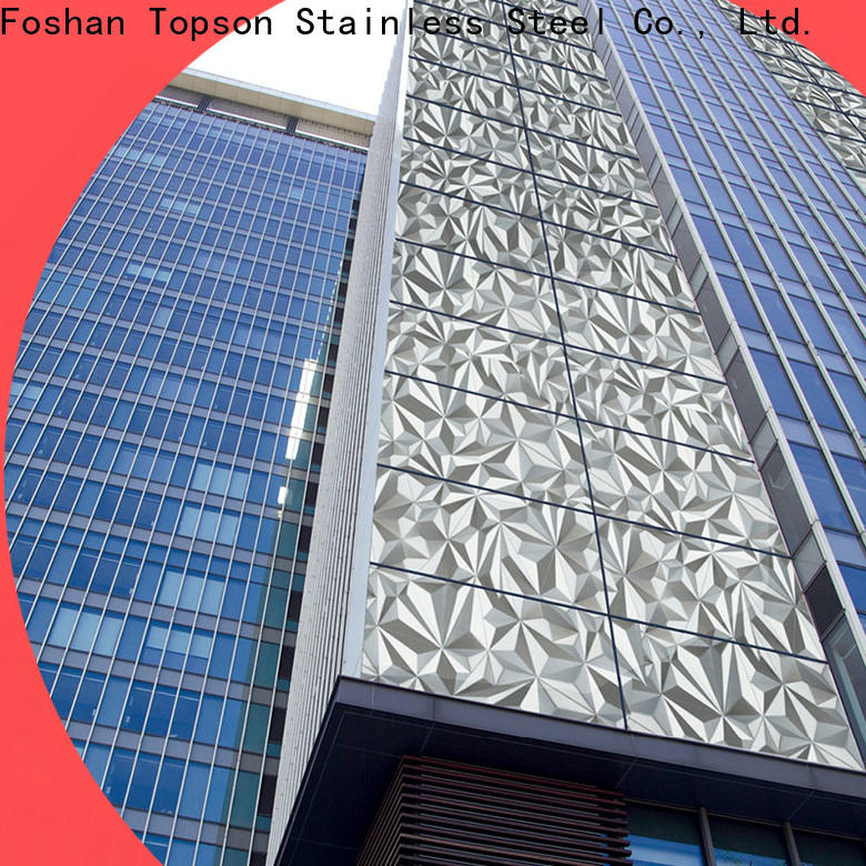Topson Top stainless steel column cladding for lift