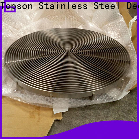 Topson gratingstainless stainless steel diamond grate for business for mall