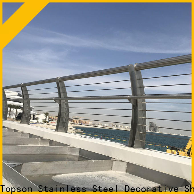 Topson railingsstainless metal roofing work company for apartment