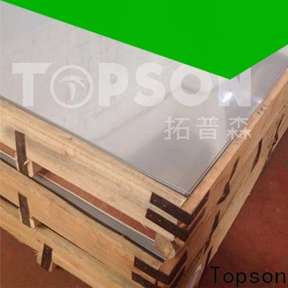 Topson durable brushed stainless steel sheet suppliers Supply for floor
