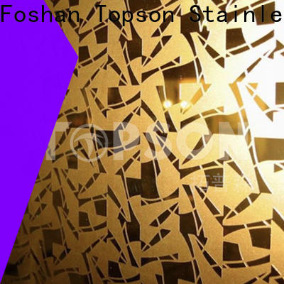 Topson bead textured stainless steel sheet metal for business for partition screens