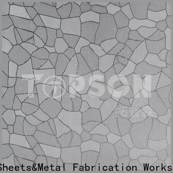 Topson Custom stainless steel decorative sheets Suppliers for interior wall decoration