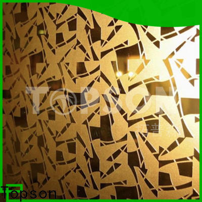 Topson luxurious stainless steel plate suppliers company for floor