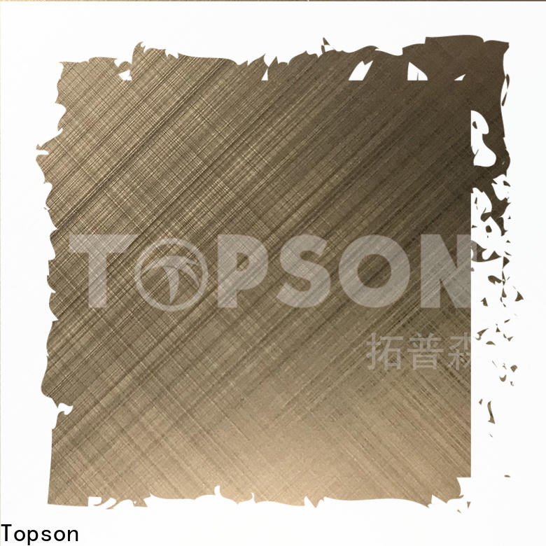Topson Custom black stainless steel sheet suppliers Supply for interior wall decoration