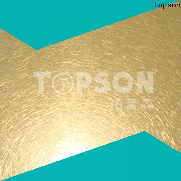 Topson mirror brushed stainless steel sheet for elevator for escalator decoration