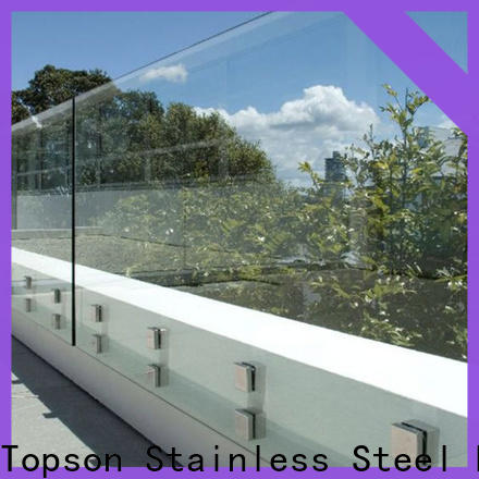Topson stable exterior glass guardrail from wholesale for toilet
