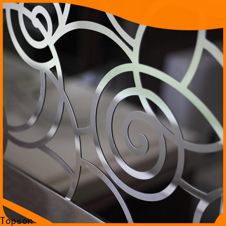 Topson bridge stainless steel wire railing designs factory for mall
