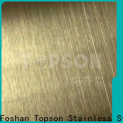 Topson widely used stainless sheet metal Supply for handrail