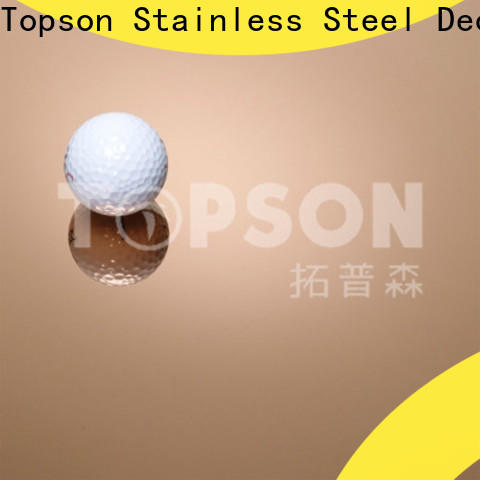 Topson blasted decorative steel sheet metal factory for floor