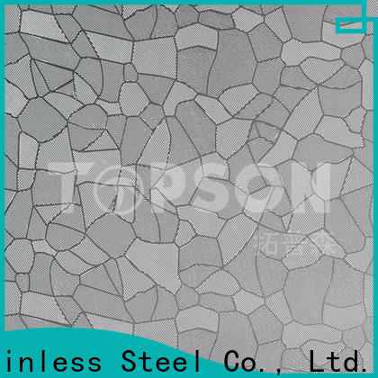Topson color decorative stainless steel sheet suppliers China for floor