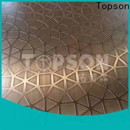 embossed stainless sheet stockists factory for partition screens