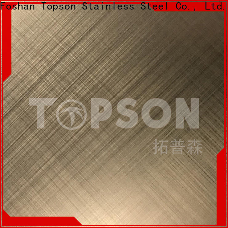 Topson gorgeous brushed stainless steel sheet factory for floor