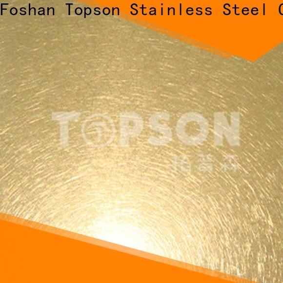 Topson widely used patterned stainless steel sheet supplier Supply for furniture