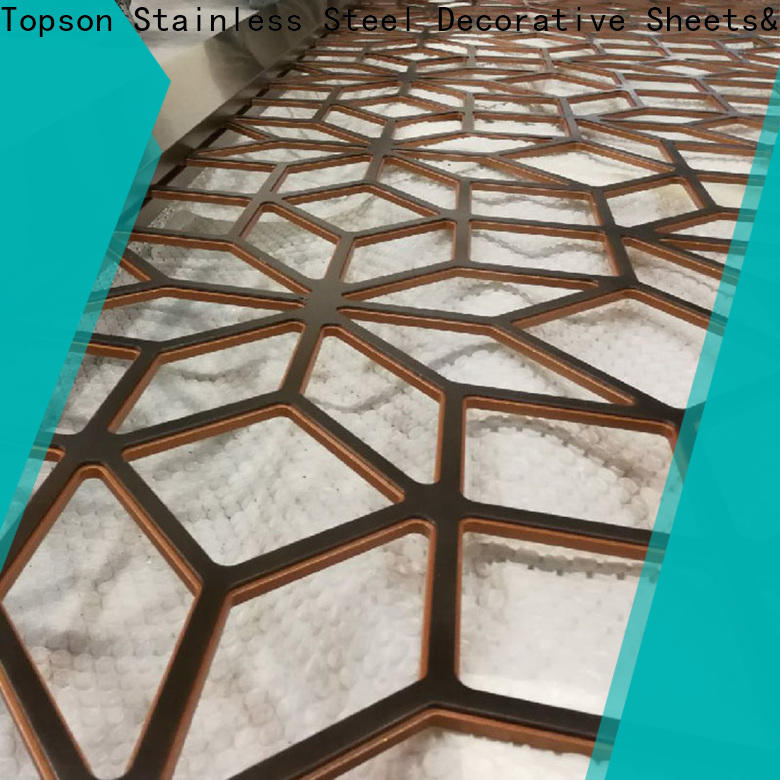 special design decorative metal privacy screens mesh for business for exterior decoration