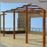 Topson widely used aluminum wall pergola manufacturers for hotel