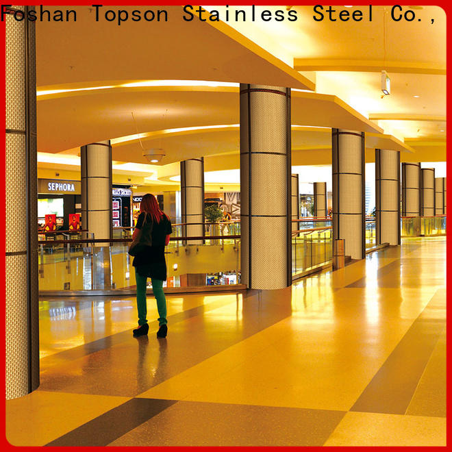 Topson elevator stainless steel wall cladding joining strip factory price for wall