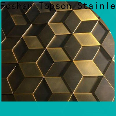 Latest metal cladding manufacturers stainless factory price for shopping mall