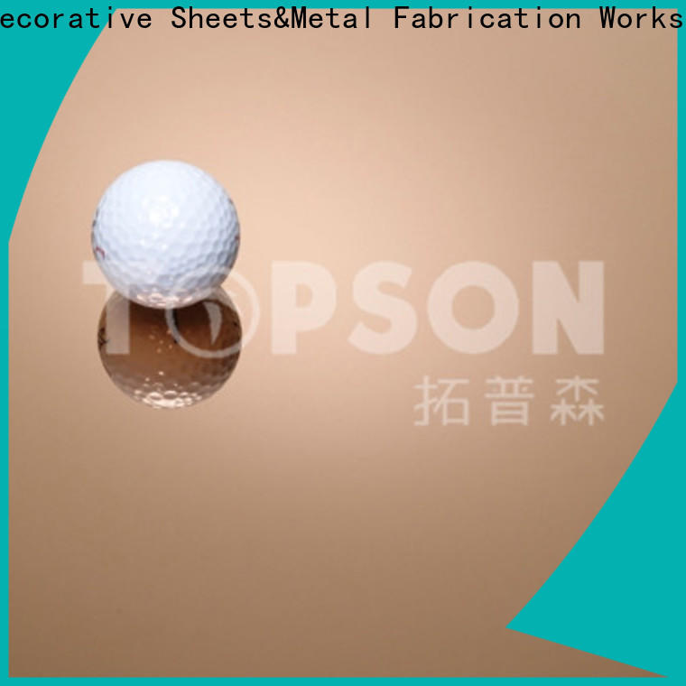 Topson Custom stainless steel sheet metal manufacturers Suppliers for interior wall decoration