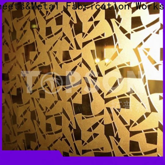 Topson etching polished stainless steel sheet metal Suppliers for elevator for escalator decoration