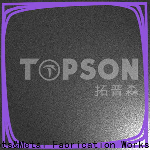 Topson black stainless steel sheet metal manufacturers for elevator for escalator decoration