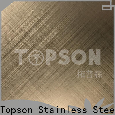 Topson Best embossed stainless sheet China for floor
