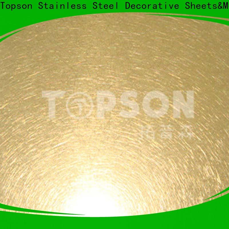 Topson Latest stainless steel sheet metal finishes for furniture